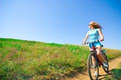 Ontspan het biking Royalty-vrije Stock Afbeeldingen
