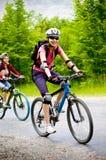 Ontspan het biking Royalty-vrije Stock Afbeelding
