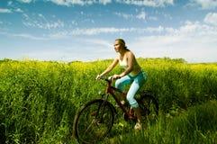Ontspan het biking Stock Foto's