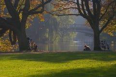 Ontspan in het park Stock Foto