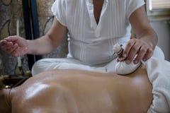 Ontspan massage Stock Fotografie