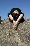 Ontspan, meditatie of geloof Royalty-vrije Stock Foto