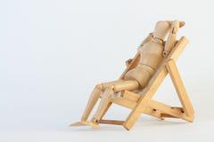 Ontspan met de ligstoel Stock Fotografie