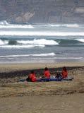 Ontspan na opleiding, Lanzarote Famara Stock Foto's
