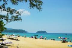 Ontspan op de stranden van Phuket thailand Royalty-vrije Stock Foto