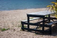 Ontspan op het strand stock foto's