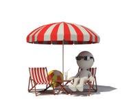Ontspan op het strand Stock Afbeelding