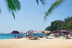 Ontspan op stranden van Phuket thailand Royalty-vrije Stock Afbeelding