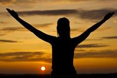 Ontspan van de zonsondergang Stock Fotografie