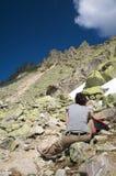 Ontspan voor berg Stock Afbeeldingen