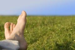 Ontspannen voet stock foto's