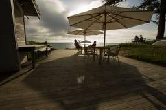 Ontspannend bij de bootloods, Lord Howe Island stock foto