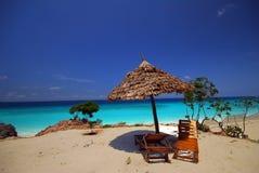 ontspannend punt in het strand stock foto