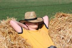 Ontspannende Cowboy Stock Foto's