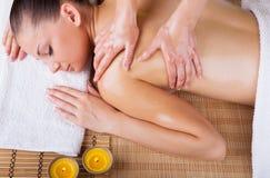Ontspannende massage Royalty-vrije Stock Foto's