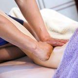 Ontspannende massage Stock Afbeelding