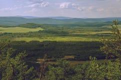 Ontspannende mening van de berg, Engels landschap Royalty-vrije Stock Afbeeldingen