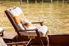 Ontspannende zetel op een boot Royalty-vrije Stock Foto