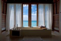 Ontspanning in de Maldiven royalty-vrije stock fotografie