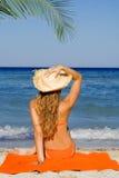 Ontspanning op de zomervakantie Royalty-vrije Stock Fotografie