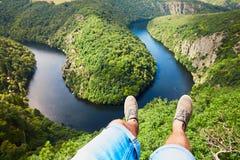 Ontspanning in verbazend landschap Stock Foto