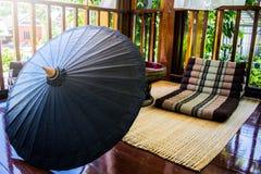 Ontspanningshoek, Thaise Lanna-stijl stock foto's