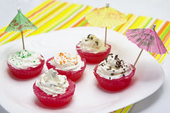Ontsproten Jello cupcakes Royalty-vrije Stock Afbeelding