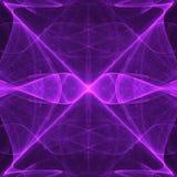 Ontstaan van Purpere Oneindigheid | Fractal Art Background Wallpaper vector illustratie