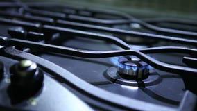 Ontstekingsgasfornuis, hotplate stock footage