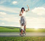 Ontstemde vrouw en blije vrouw Stock Foto