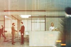 Ontvangst en vergaderzaal, mensendubbel Stock Fotografie