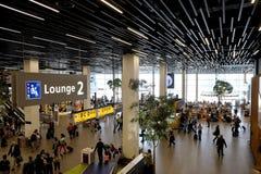 Ontvangstgebied bij Schiphol Luchthaven Stock Fotografie