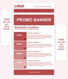 Ontvankelijk bulletinmalplaatje met banners Royalty-vrije Stock Fotografie