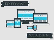 Ontvankelijk de paginaontwerp van de webdesigntechnologie Stock Fotografie