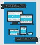 Ontvankelijk de paginaontwerp van de webdesigntechnologie Royalty-vrije Stock Afbeeldingen