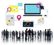 Ontvankelijk het Web Online van Bedrijfs ontwerpinternet Concept Stock Afbeelding