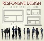 Ontvankelijk het Web Online van Bedrijfs ontwerpinternet Concept Royalty-vrije Stock Fotografie