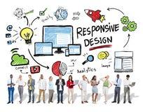 Ontvankelijk het Web van Bedrijfs ontwerpinternet Technologieconcept royalty-vrije stock afbeeldingen