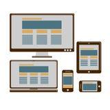 Ontvankelijk ontwerp voor Web Royalty-vrije Stock Foto