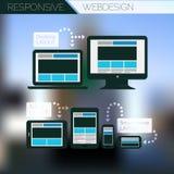 Ontvankelijk van het de paginaontwerp van de webdesigntechnologie het malplaatjeconcept Royalty-vrije Stock Afbeeldingen