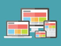 Ontvankelijk Webontwerp, toepassingsontwikkeling en Royalty-vrije Stock Fotografie