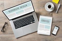 Ontvankelijke ontwerp en Webapparaten Royalty-vrije Stock Foto's