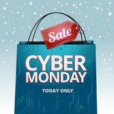 Ontwerp cyber Maandag, vectorgrafiek voor de plaats vector illustratie