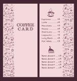 Ontwerp een menu voor koffie Royalty-vrije Stock Foto's