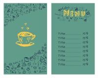 Ontwerp een menu voor koffie Stock Afbeeldingen