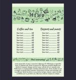 Ontwerp een menu voor koffie Royalty-vrije Stock Foto