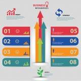 Ontwerp het bedrijfs van Infographics Royalty-vrije Stock Foto