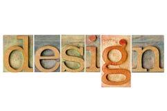 Ontwerp - houten typecollage Stock Fotografie