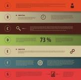Ontwerp infographic malplaatje met pictogrammen Vector illustratie Stock Fotografie