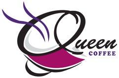 Ontwerp Koningin Coffee Logo stock foto